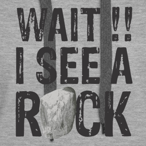 Wait I See a Rock Funny Mineral Collector Geology - Women's Premium Hoodie