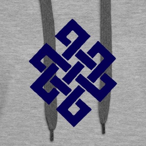 Eternal Knot Tibetan Symbol - Women's Premium Hoodie