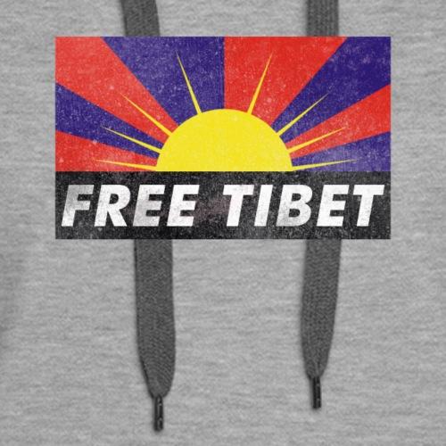 Free Tibet - Tibetan Flag - Women's Premium Hoodie