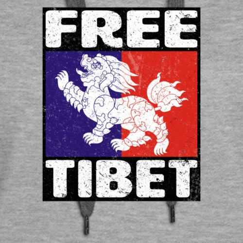 Free Tibet Snow Lion - Women's Premium Hoodie