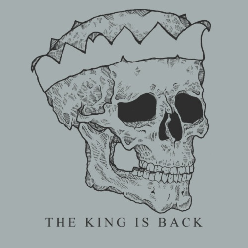 The King is Back BW - Women's Premium Hoodie
