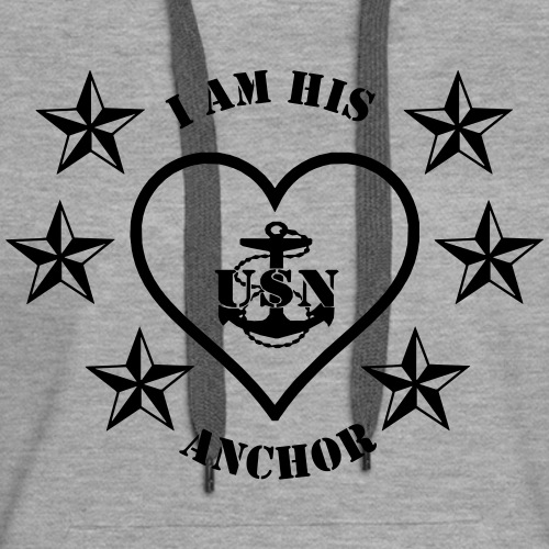 I am his anchor - Women's Premium Hoodie