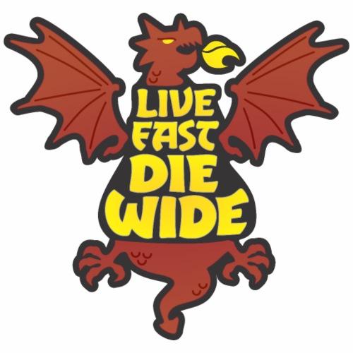Live Fast Die Wide (brown) - Women's Premium Hoodie