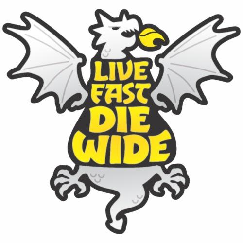 Live Fast Die Wide (white) - Women's Premium Hoodie