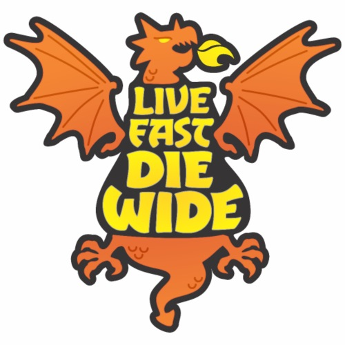 Live Fast Die Wide (orange) - Women's Premium Hoodie