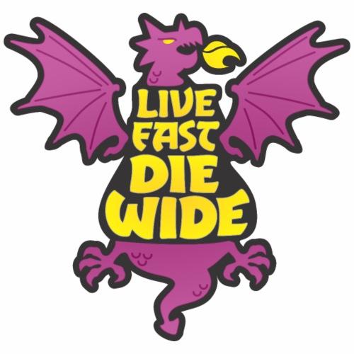 Live Fast Die Wide (purple) - Women's Premium Hoodie