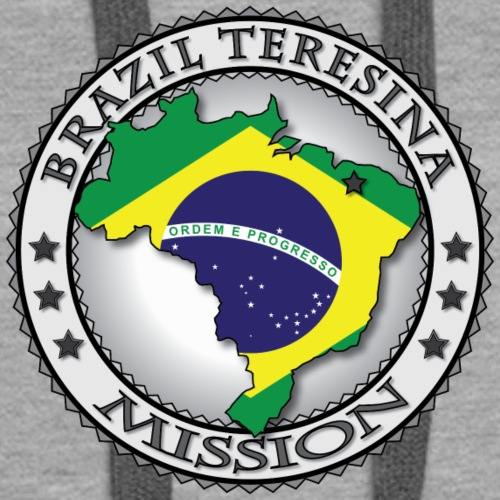 Brazil Teresina Mission Classic Seal with Flag - Women's Premium Hoodie