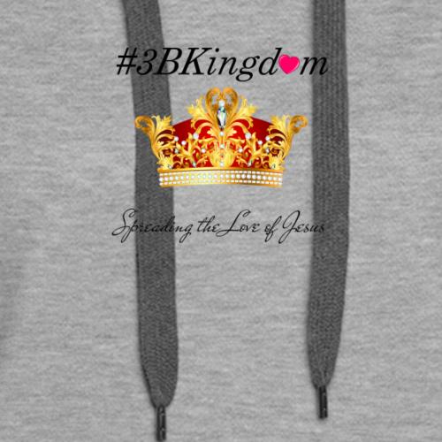 3bkingdom logo2 lg - Women's Premium Hoodie