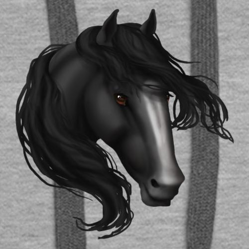 Black Blaze Horse - Women's Premium Hoodie