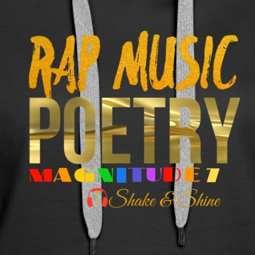 Rap Music And Poetry - Women's Premium Hoodie