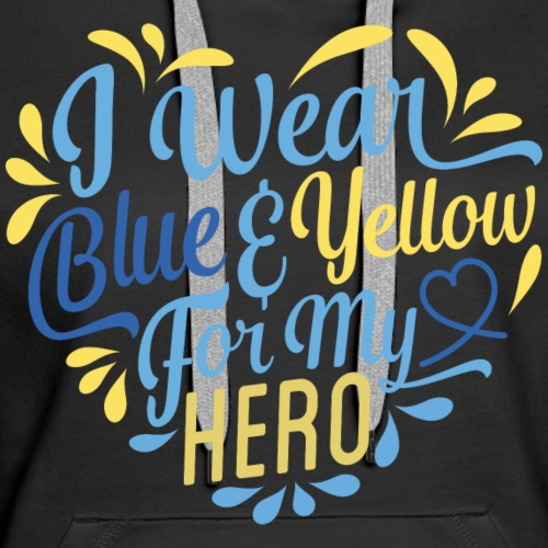 Blue & Yellow - Women's Premium Hoodie