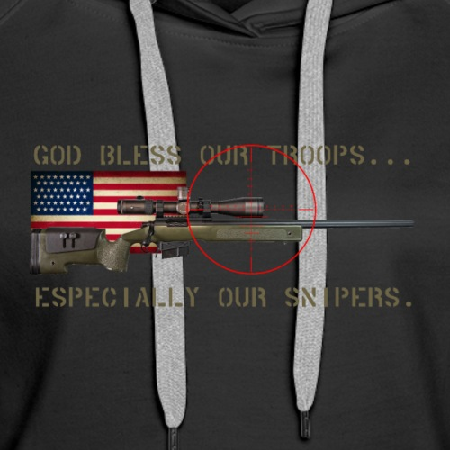God Bless Our Snipers - Women's Premium Hoodie