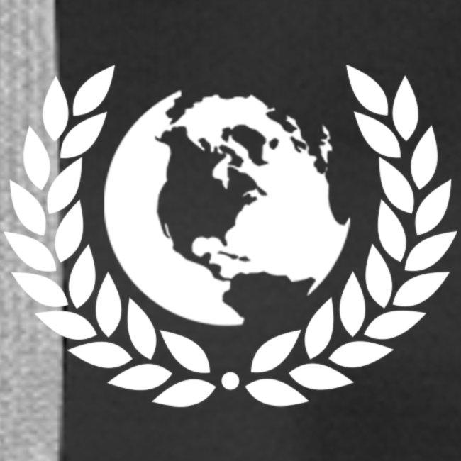 world logo white