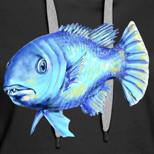 blue fish - Women's Premium Hoodie