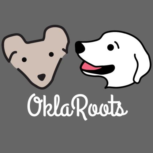 New OklaRoots Logo in White - Women's Premium Hoodie