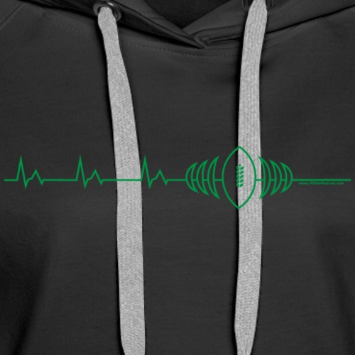 Heart Beat Of Saskatchewan - Women's Premium Hoodie