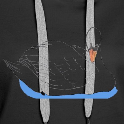 Swan in water - Women's Premium Hoodie