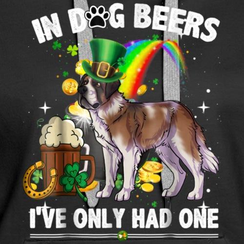 Saint Bernard Dog T-Shirt Irish St Patrick Day-png - Women's Premium Hoodie