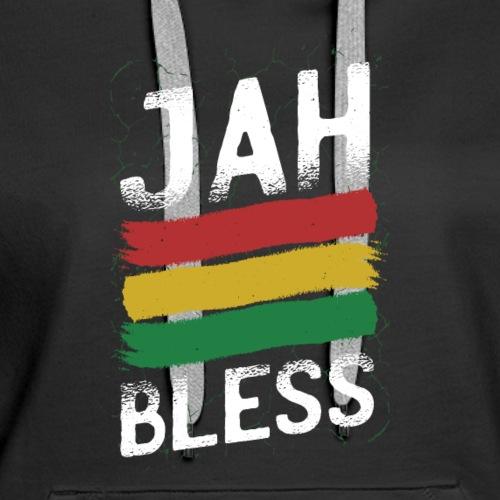 JAH Bless Rasta Reggae Shirt - Women's Premium Hoodie