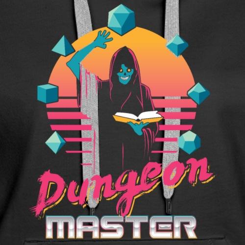 dungeon master outrun neon fantasy gift shirt - Women's Premium Hoodie
