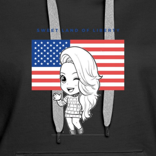 Miss Lopez USA & Land of Freedom - Women's Premium Hoodie