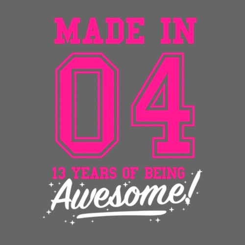 Made In 2004 Awesome 13th Birthday - Women's Premium Hoodie