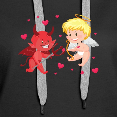 Chibi Cupid and Devil - Women's Premium Hoodie