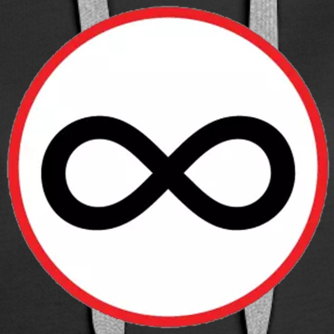 Infinity sign red circle