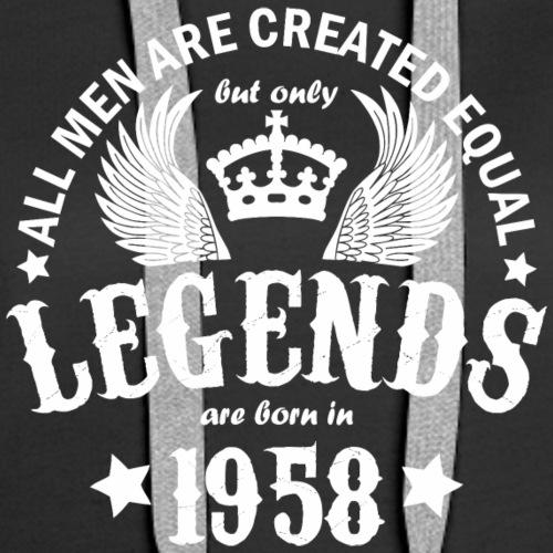 Legends are Born in 1958 - Women's Premium Hoodie