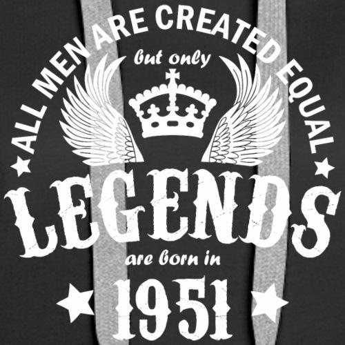 Legends are Born in 1951 - Women's Premium Hoodie