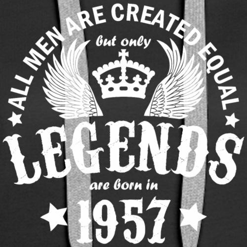 Legends are Born in 1957 - Women's Premium Hoodie