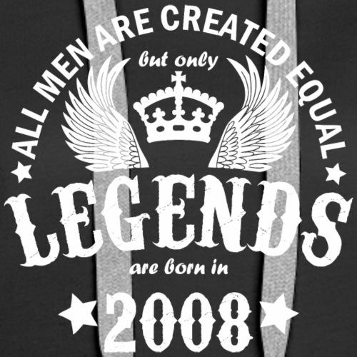 Legends are Born in 2008 - Women's Premium Hoodie