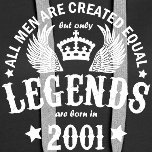 Legends are Born in 2001 - Women's Premium Hoodie