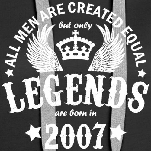 Legends are Born in 2007 - Women's Premium Hoodie