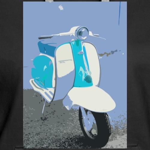 Retro Blue Vespa - Women's Premium Hoodie
