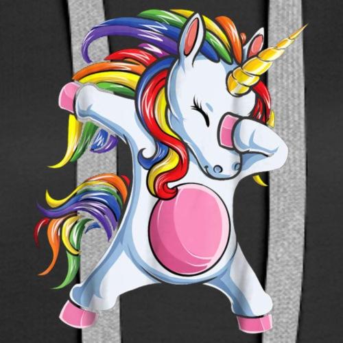 Dabbing Unicorn - Women's Premium Hoodie