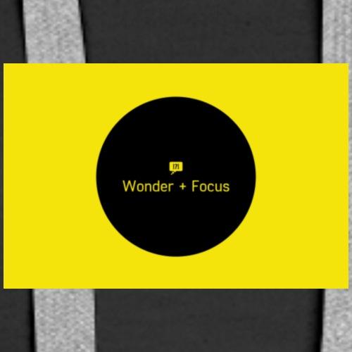 Wonder and Focus Black and Yellow - Women's Premium Hoodie