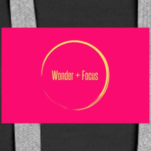 Wonder and Focus Circle Pink - Women's Premium Hoodie