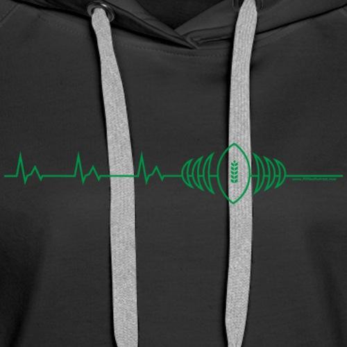 Heart Beat Of Saskatchewan - Women's Premium Hoodie