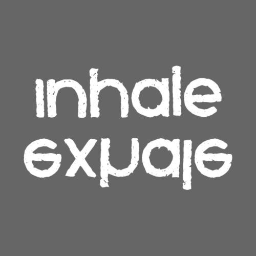inhale exhale inverted white - Women's Premium Hoodie