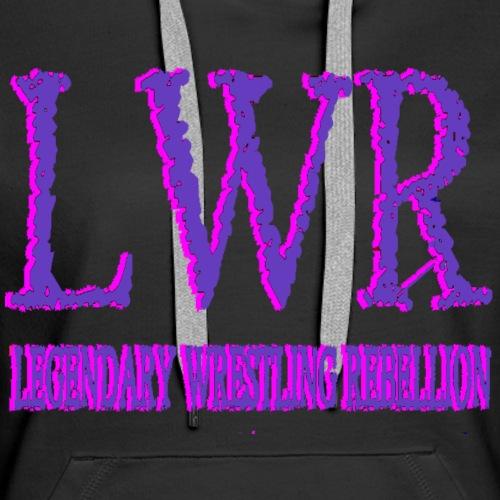 LWR Purple and Pink Logo - Women's Premium Hoodie