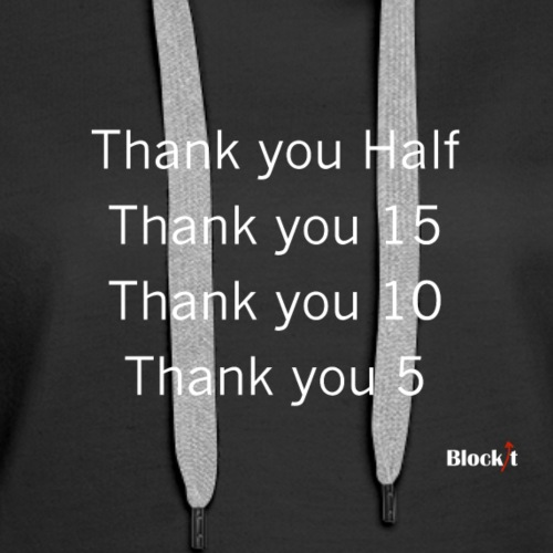 Thank you 5 - Women's Premium Hoodie