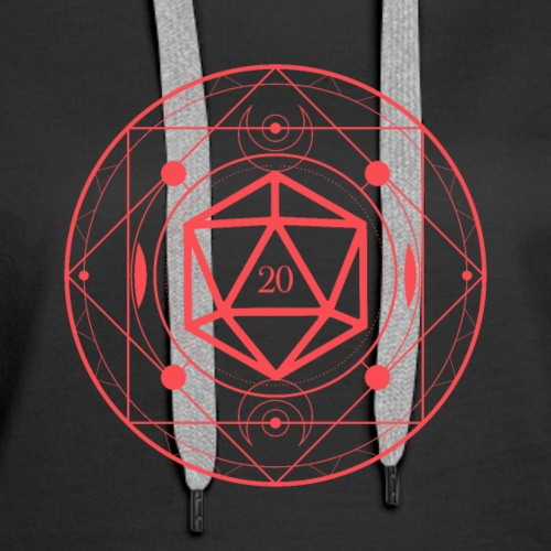 D20 Dice Sacred Symbol Red Tabletop RPG - Women's Premium Hoodie
