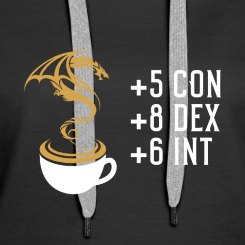 Coffee and Dragon Dungeons Crawler and Dragons RPG - Women's Premium Hoodie