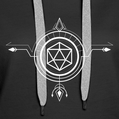 Polyhedral D20 Dice Minimalist Arrow Tabletop RPG - Women's Premium Hoodie