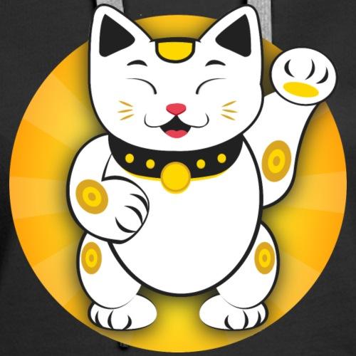 Maneki Neko - Japanese Lucky Cat - Women's Premium Hoodie