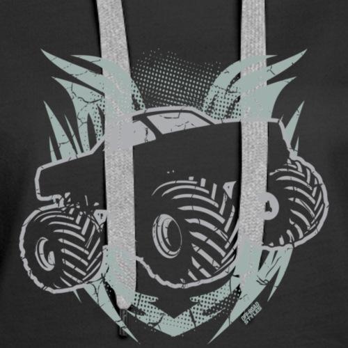 MONSTER TRUCK GRUNGE T Shirt - Women's Premium Hoodie