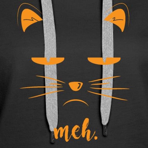 Black Cat Meh Halloween Cat Lover Costume - Women's Premium Hoodie