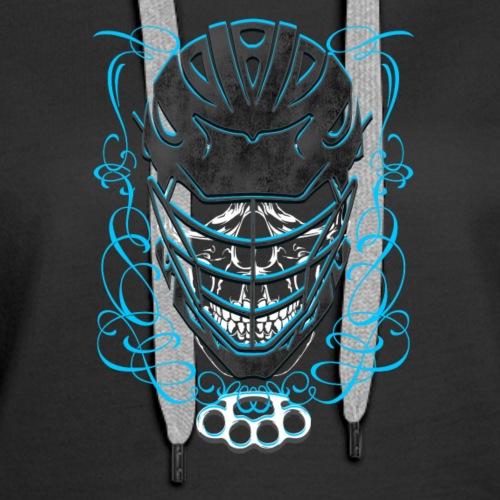 lacrosse skull - Women's Premium Hoodie