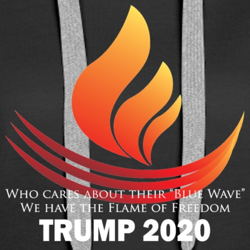 The Red Flame of Freedom TRUMP 2020 - Women's Premium Hoodie